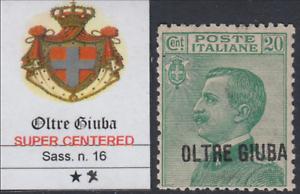 Italy-Oltre-Giuba-Sassone-n-16-cv-60-SUPER-CENTERED-MNH
