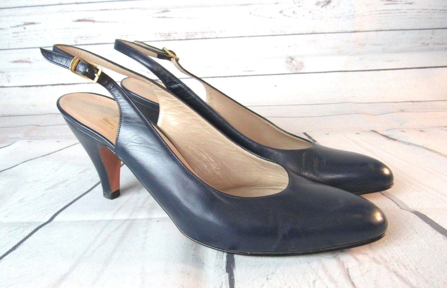 Salvatore Ferragamo Honda Nuevo Azul Marino para Mujeres Bombas Bombas Bombas Tacones Zapatos Talla 8 AA  el precio más bajo