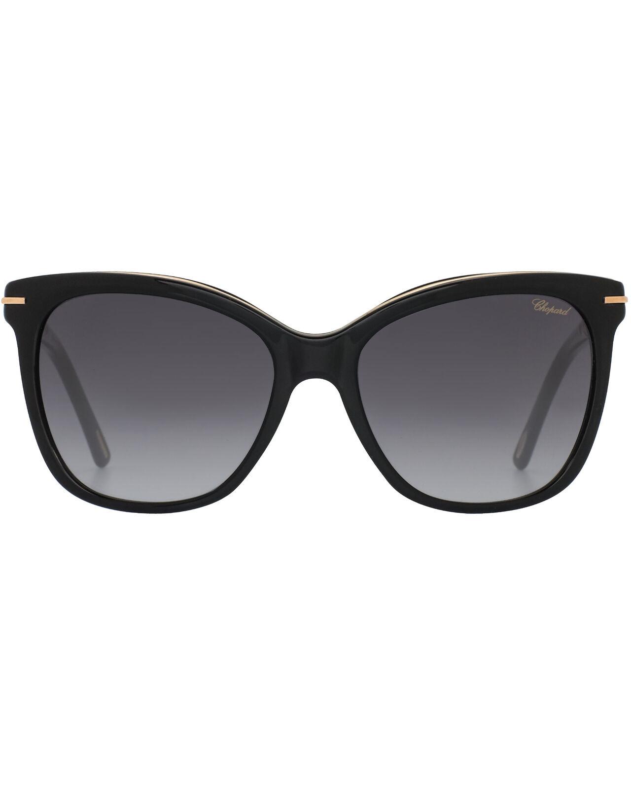 Chopard Smoke Gradient & Black Cat-Eye Butterfly Shape Sunglasses 95221-0338