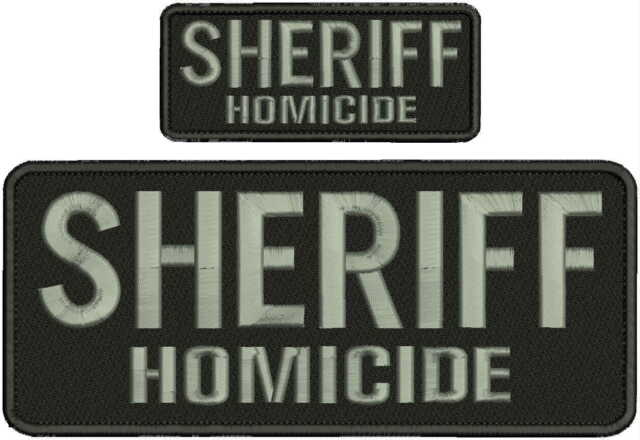 PROBATION embroidery patches 4x10  hook letters silver