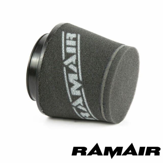 RAMAIR INDUCTION FOAM CONE AIR FILTER UNIVERSAL 80mm OFFSET NECK - 100mm TALL