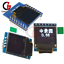 "0.66/"" 4//7Pin OLED I2C SPI Display Module for WeMos D1 Mini OLED Shield"