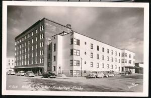 ANCHORAGE-AK-Westward-Hotel-Vtg-1950-039-s-Cars-RPPC-Alaska-Postcard-Old-Real-Photo