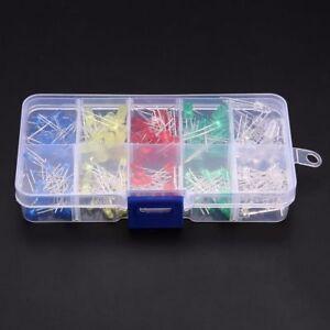 200x-3mm-5mm-LED-Sortiment-Lampe-Rot-Gruen-Gelb-Blau-Weiss-Leuchtdioden-Diode