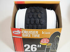 """Bell 7064286 26in Glide White Wall Bicycle Tire Kevlar, Black 26"""" Inch 1.75-2.25"""