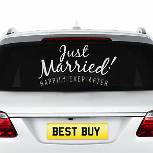 Just Married Wedding Static Cling Window Decals Removable and Reusable Wedding Clings Car Decorations
