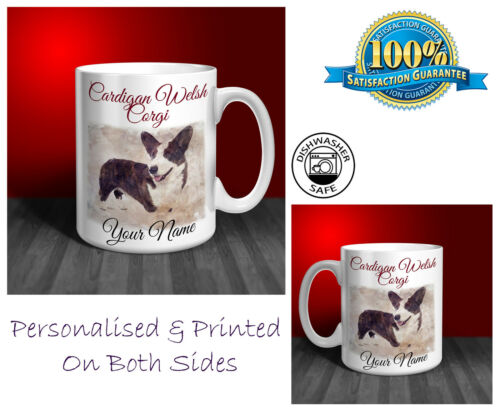 D188 Perfect Gift. Cardigan Welsh Corgi Personalised Ceramic Mug