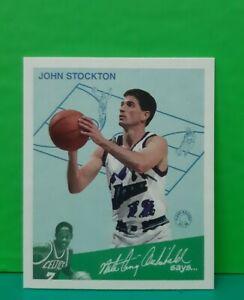 John Stockton insert card Goudey Greats 1997-98 Fleer #13