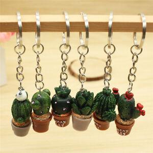 Mini-Cactus-Key-Ring-Keychain-Keyring-Women-Bag-Charm-Pendant-Key-Chain-JR