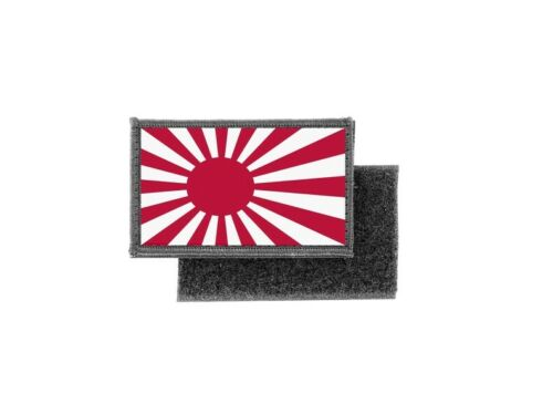 Patch ecusson imprime badge drapeau japon rising sun japonais
