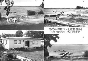 AK, Göhren-Lebbin Kr. Röbel Müritz, Ferienheim Waggonbau Niesky, vier Abb., 1983