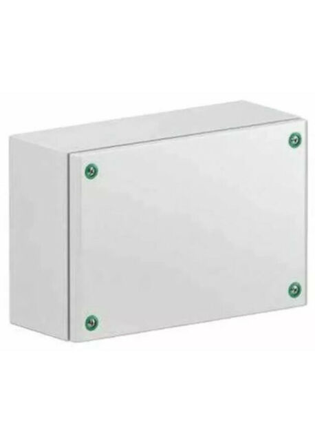 Schneider Electric Wall Steel Industrial Electrical Enclosure IP66 NSYSBM20508 Waterproof Weatherproof Project Box Enclosure Instrument Case Hoby Fuse DIY Board Cable Entry Cabinet Watertight
