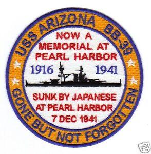 Armed forces insignia uss us navy arizona bb-39 pearl harbor.