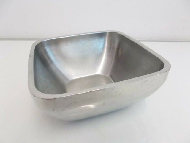 2x Vollrath Stainless Steel Double-Wall Square Plain Bowls - 47672