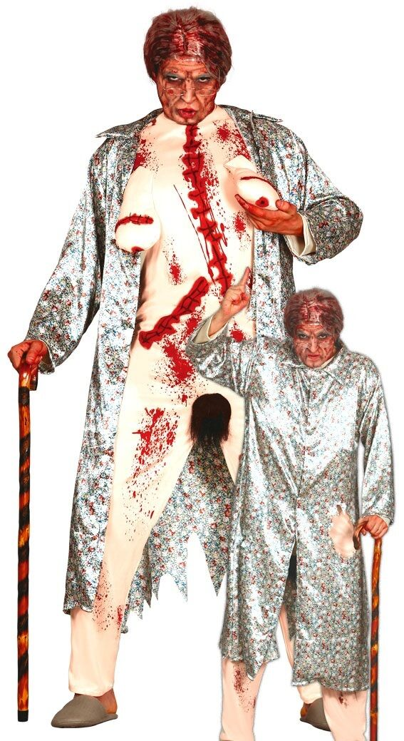 Herren Zombie Lichthupe Oma Halloween Stag Kostüm Kleid Outfit Groß   Deutschland Outlet