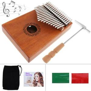 17-Keys-Kalimba-Single-Board-Mahogany-Thumb-Piano-Mbira-Keyboard-Instrument-Tool