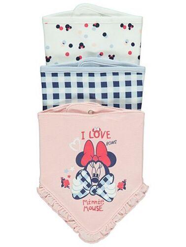 Brand New Baby Girl/'s Minnie Mouse Clothing Nightwear Dress Bibs Pyjamas