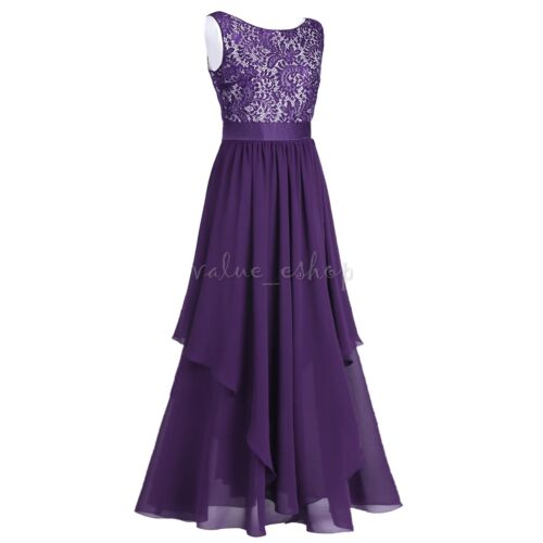 Women/'s Formal Lace Long Sleeve Evening Dress Party Prom Gown Bridesmaid Dresses