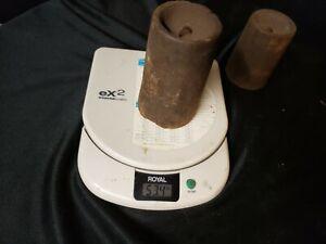 Antique paire horloge poids 53 & 42 oz (environ 1190.66 g) étagère Manteau Gothique