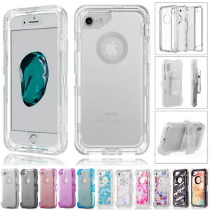 brand new 9dd45 633d7 Details about iPhone X XS 6 7 8 + Clear Defender Cover Case Fits Otterbox  Defender Belt Clip
