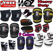 Weight lifting Knee Wraps Bandage Gym Straps Power crossfit Pads Sleeves Fitness