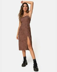 MOTEL-ROCKS-Kaoya-Midi-Dress-in-Satin-Rose-Chocolate-XS-MR15