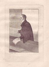 JOHN KAY Original Antique Etching. Francis Jeffrey, Esq., Advocate..., 1816