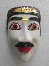 Masque Bois Oriental/Asiatique Blanc Topeng Bali NMST117