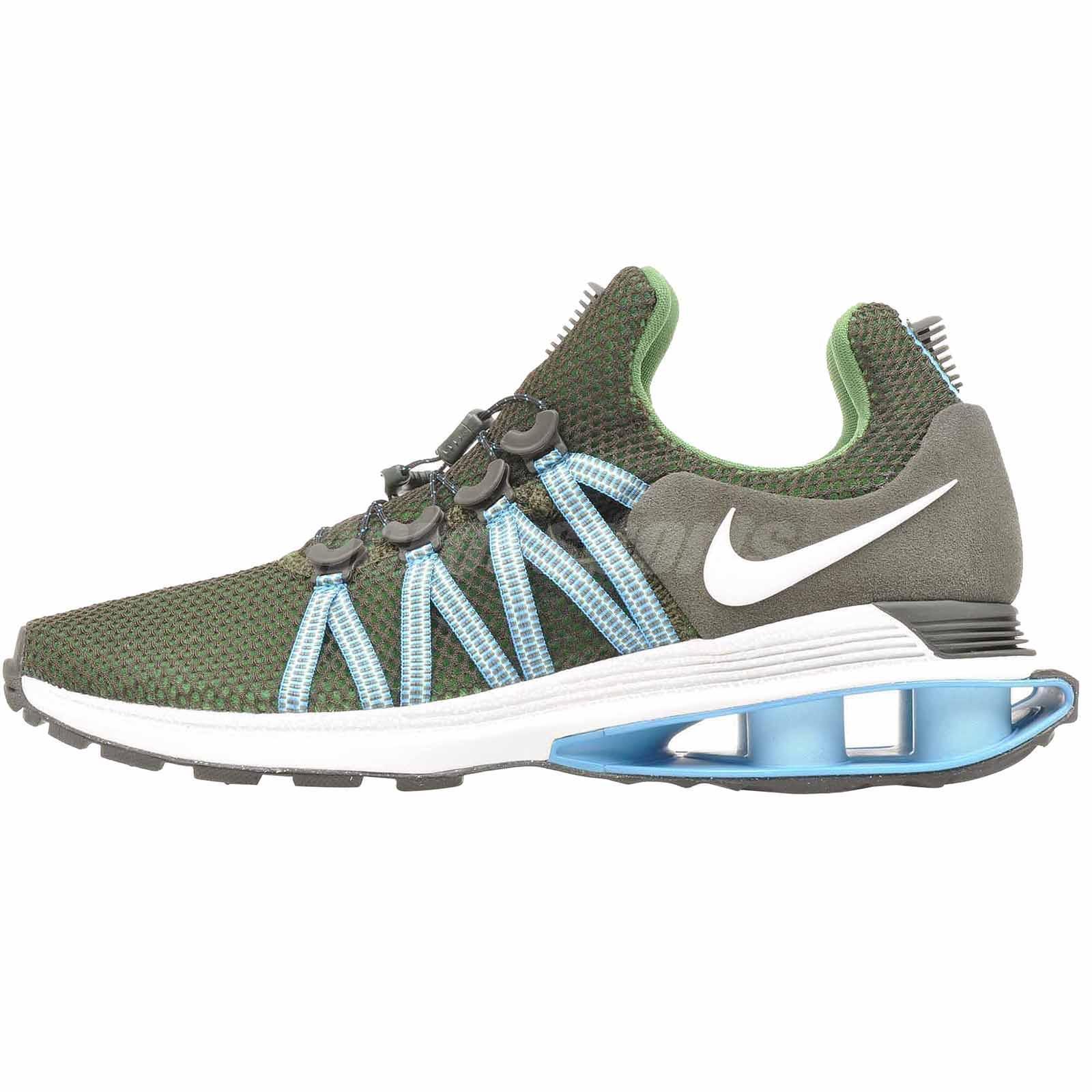 Nike Shox Gravity Correr para Hombre Zapatos Sequoia Azul blancoo AR1999-300