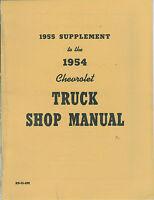 1955 Chevrolet Truck Shop Manual Supplement