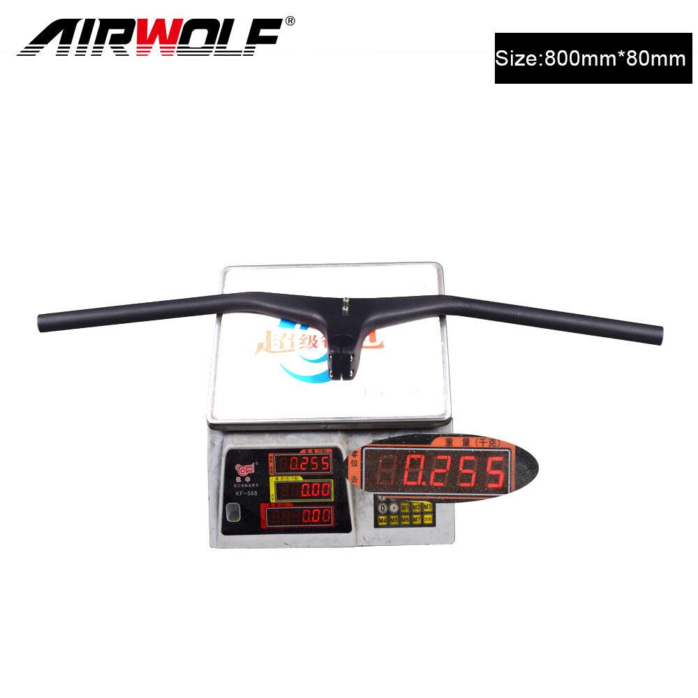 Carbon handlebars 17 degree carbon mtb bicycle handlebars integrated 3K
