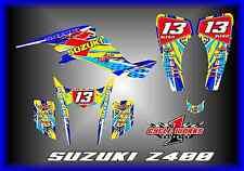 SUZUKI LTZ 400 Z400 KAWASAKI KFX400 KFX QUADRACER  SEMI CUSTOM GRAPHICS KITBlu