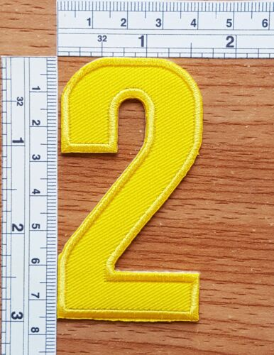3 Inch Yellow Number 0-9 Patches DIY for Jeans Bags Jacket T-shirt Embroidered
