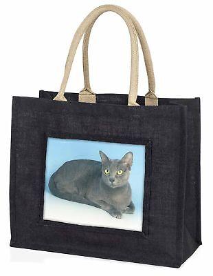silbergrau Thai Korat Katze große schwarze Einkaufstasche Weihnachtsgeschenk,