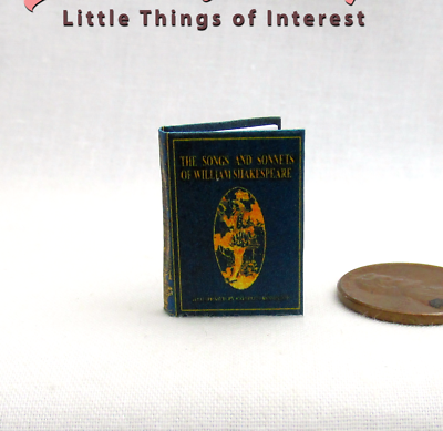 Canzoni E Sonetti Di William Shakespeare Miniatura Illustrated Book 1:12 Scala
