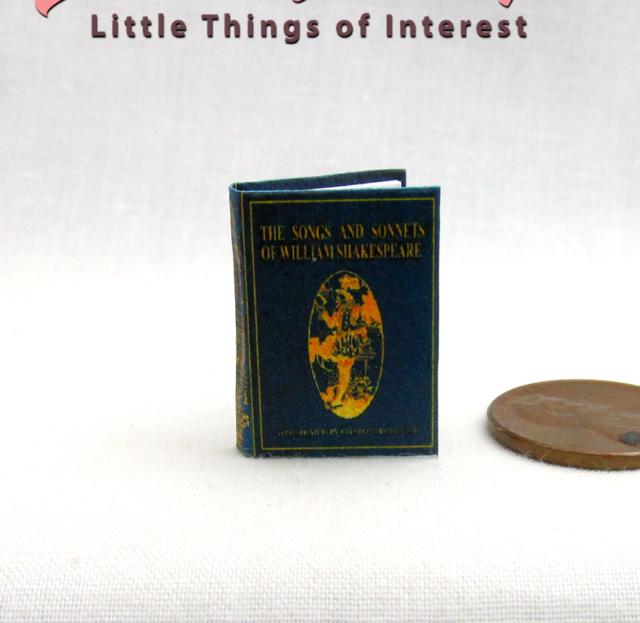 MACBETH Dollhouse Miniature Book 1:12 Scale Readable Illustrated Shakespeare