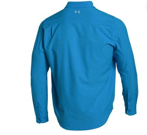 Under Armour 1271567 UA Armour Vent™ Men's Fishing Long Sleeve Shirt Blue XL NWT