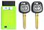 2Pcs TOY44G TOYOTA 2010-2014 G Chip Transponder Key With Programmer USA Seller