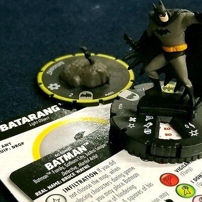 040 DC Batman The Animated Series HeroClix Rare Batman /& Batarang