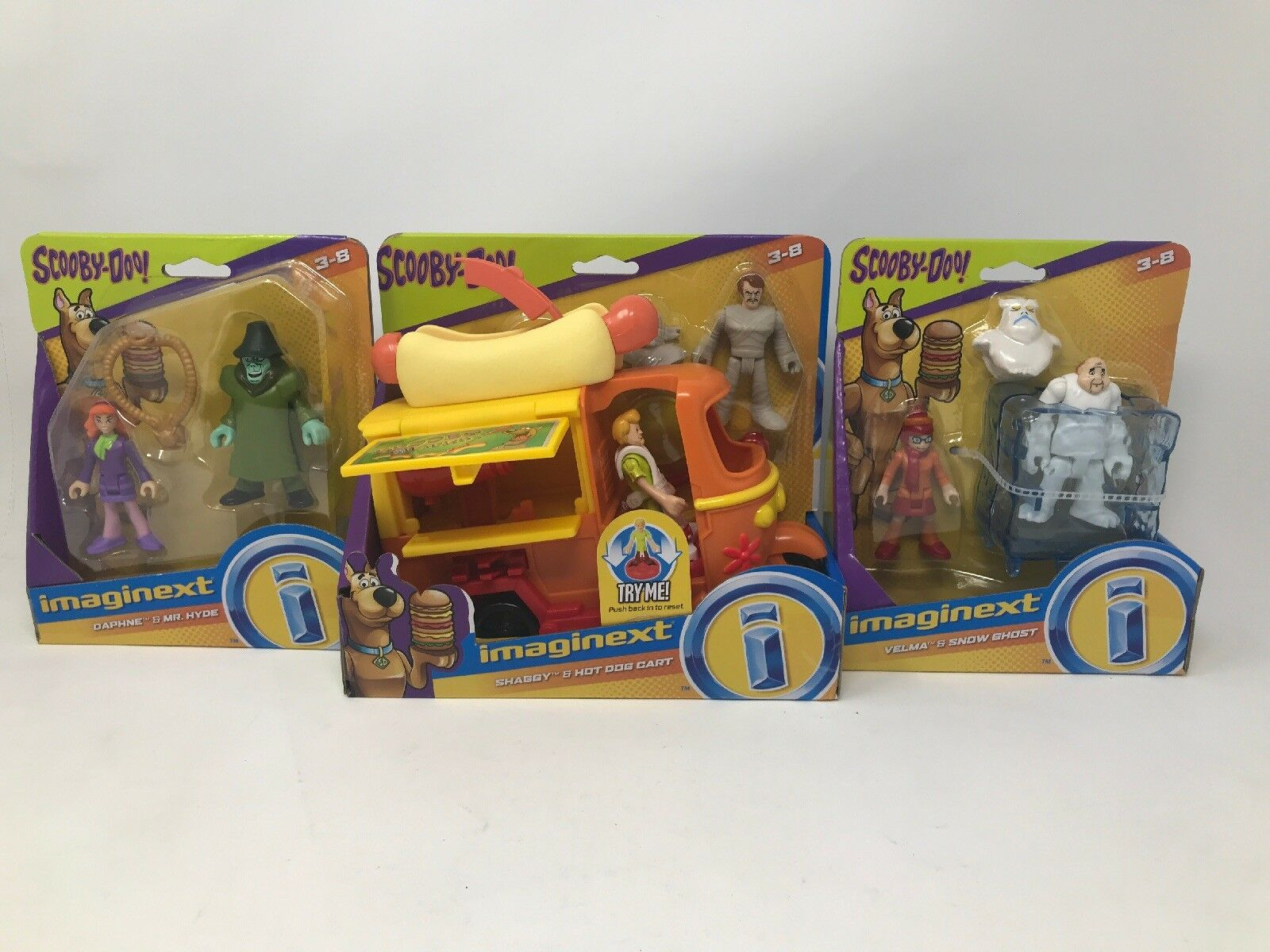 Scooby doo imaginext shaggy & hot dog stand daphne hyde velma geist roboter neue