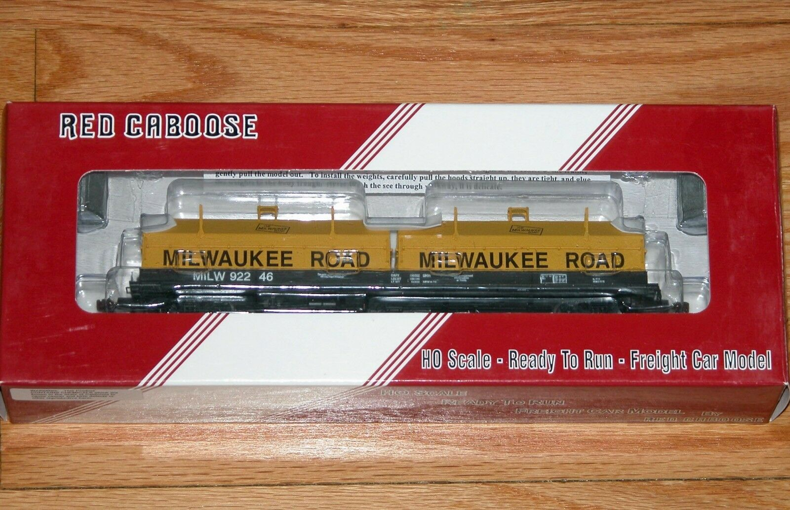 RED CABOOSE RR-32527-7 100 TON EVANS COIL CAR MILWAUKEE ROAD MILW 92246