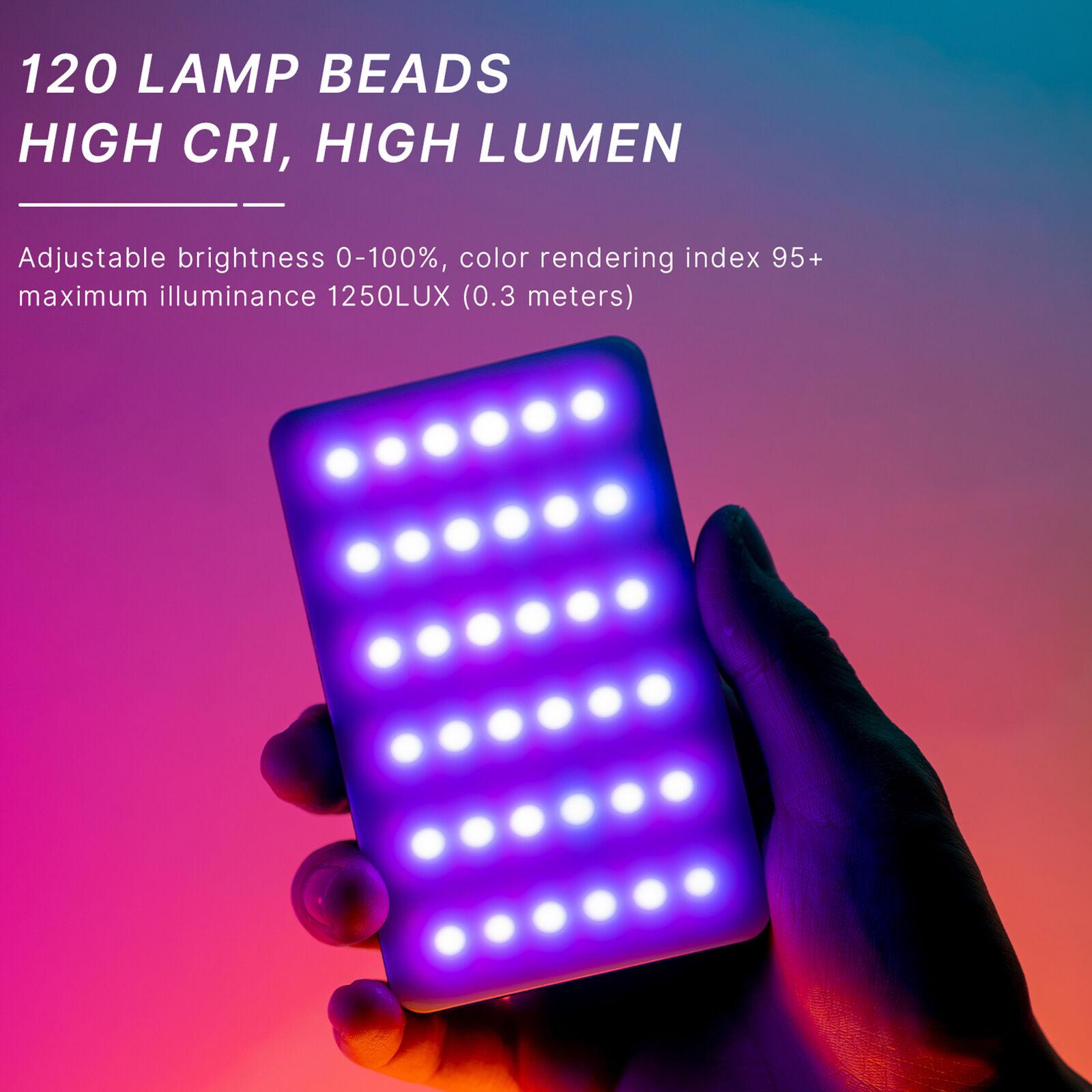 Ulanzi VL120 Mini LED Video Light Photography Fill-in Light Dimmable Cold Shoe