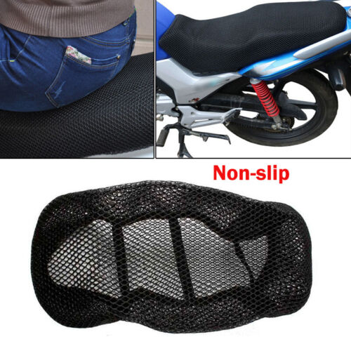 1PC Motorcycle 3D Seat Cover Net Heat Resistant Anti-slip Breathable Mesh Fabric