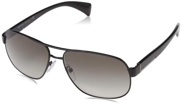 cf0514a29 Authentic PRADA Spr 52p 7ax-0a7 Black With Grey Gradient Sunglasses PR 52ps