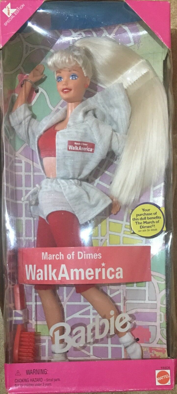 Barbie Mattel Edition March Of Dimes Walk America K-Mart Special Edition Mattel 7370cf