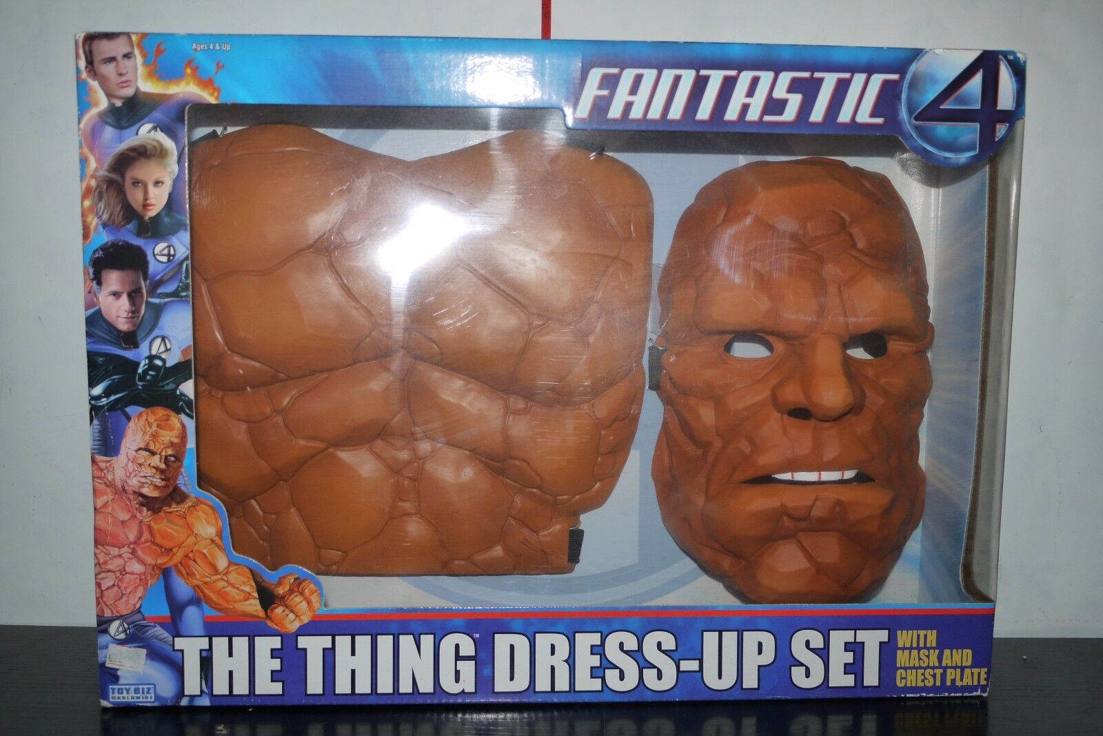2005 FANTASTIC 4 FOUR THE THING DRESS-UP SET MASK CHEST TOY BIZ BOXED