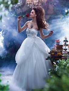 NWT-Fairy-Tale-Weddings-Size-14-Sparkling-tulle-Ivory-ball-gown-ANGELO-235-BELLE