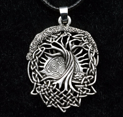 Men/'s Vintage Norse Viking arbre de vie PENDENTIF NOEUD Amulette Collier Bijoux