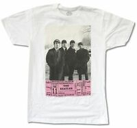 The Beatles d.c. Ticket White T-shirt 1964 Concert Official Adult
