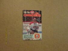 NHL Les Canadiens Vintage 1989-90 Logo Pocket Schedule